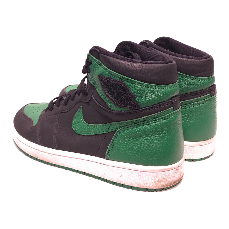 Jordan/RETRO PINE GREEN/Hi-Sneakers/US11.5/GRN/Leather/Border