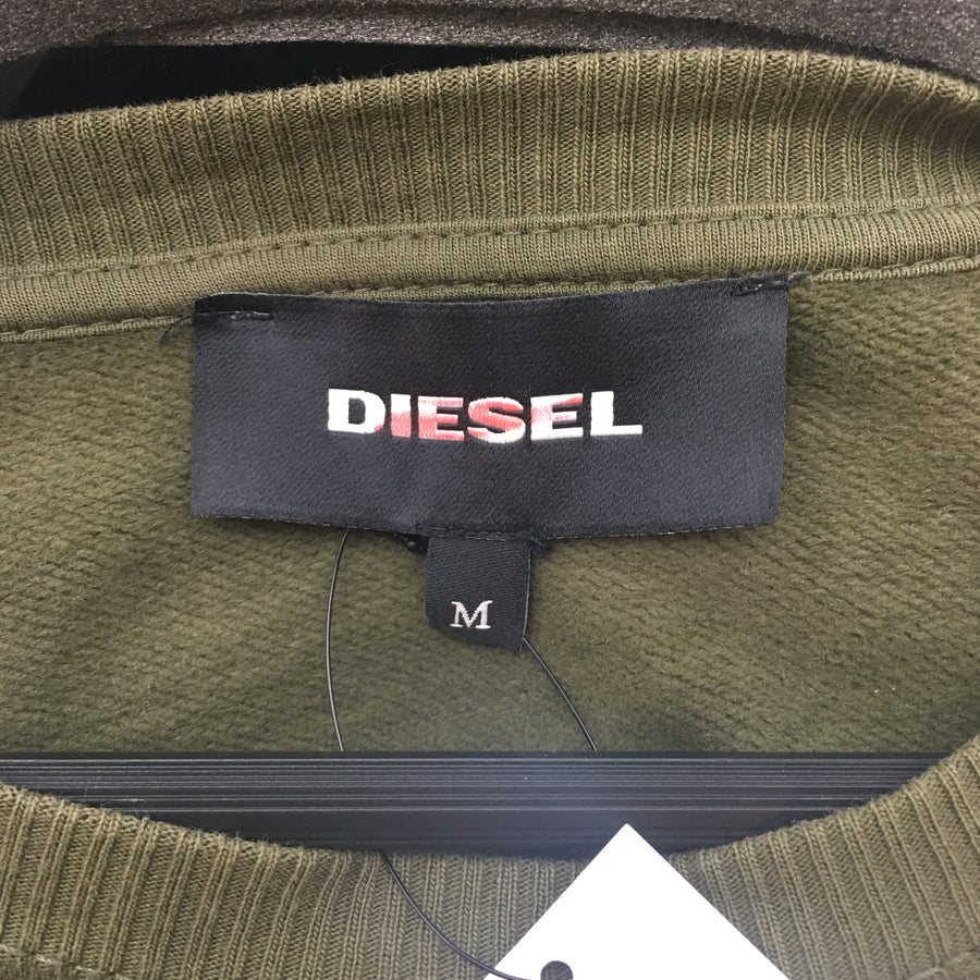 DIESEL//Sweatshirt/M/KHK/Cotton/Plain
