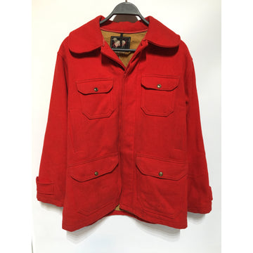 Vintage/40/Jacket/RED/Wool/Plain