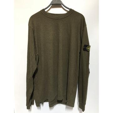 STONE ISLAND/./LS T-Shirt/GRN/Cotton/Plain