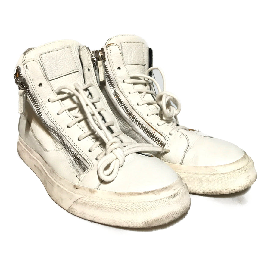 GIUSEPPE ZANOTTI DESIGN/Hi-Sneakers/43/WHT/Leather