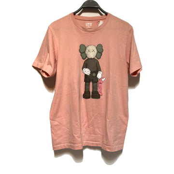 KAWS/X UNIQLO/T-Shirt/M/PNK/Cotton/Graphic