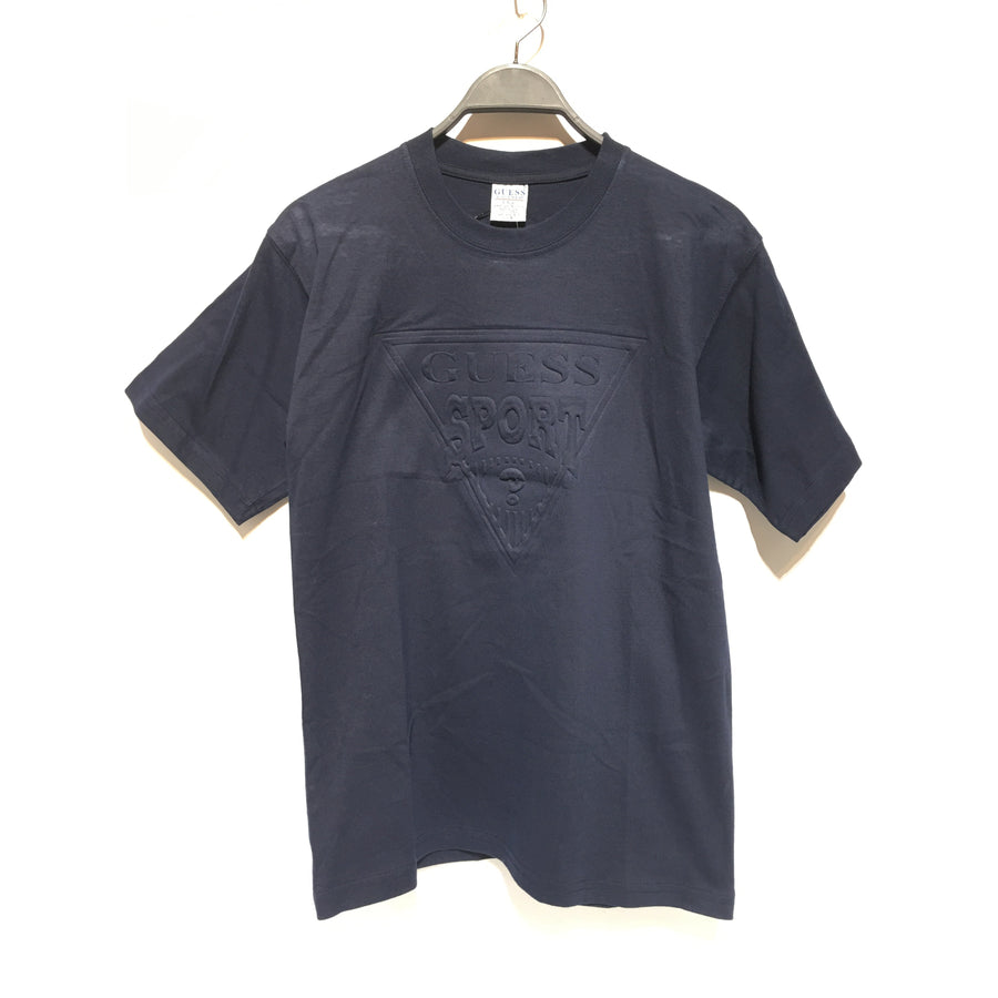 GUESS/S/T-Shirt/NVY/Cotton/Plain