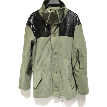 Ramy Brook/S/Jacket/GRN/Cotton/Plain