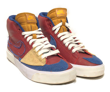 NIKE SB/BLAZER MID EDGE TEAM RED/Hi-Sneakers/US9/MLT/Leather/Plain