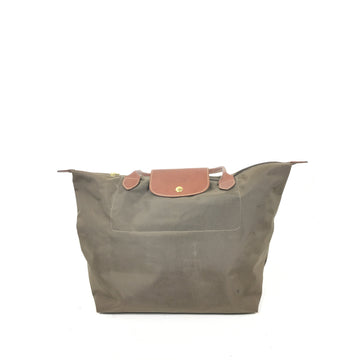 LONGCHAMP//Tote Bag/KHK/Nylon/Plain