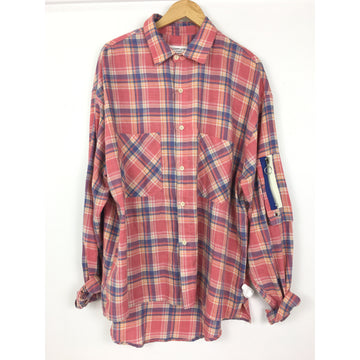 MR Completely/XL/Flannel Shirt/RED/Cotton/Plaid