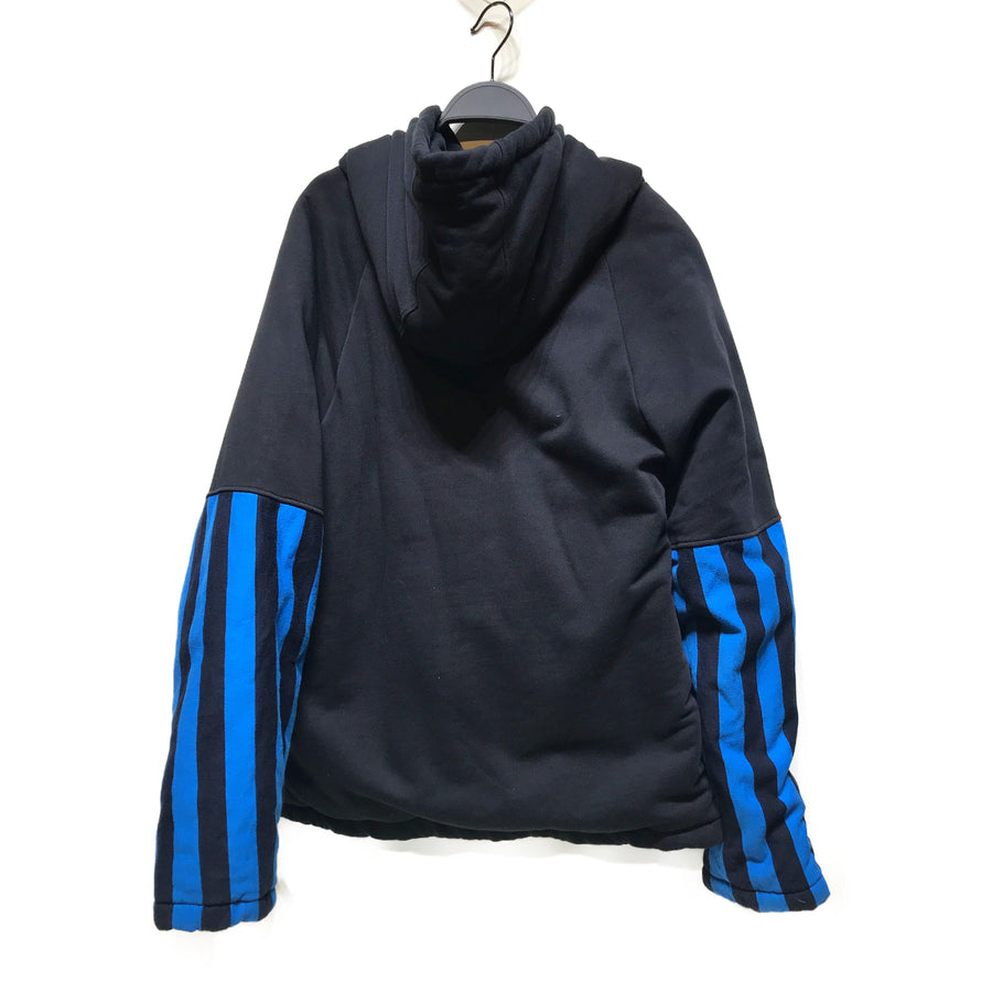 MARTINE ROSE//Sweatshirt/M/BLK/Cotton/Stripe