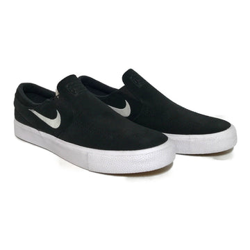 NIKE SB/JANOSKI SLIP-ON/Low-Sneakers/US8.5/BLK/Cotton/Plain