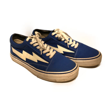 REVENGE STORM//Low-Sneakers/8/BLU/Cotton/Plain