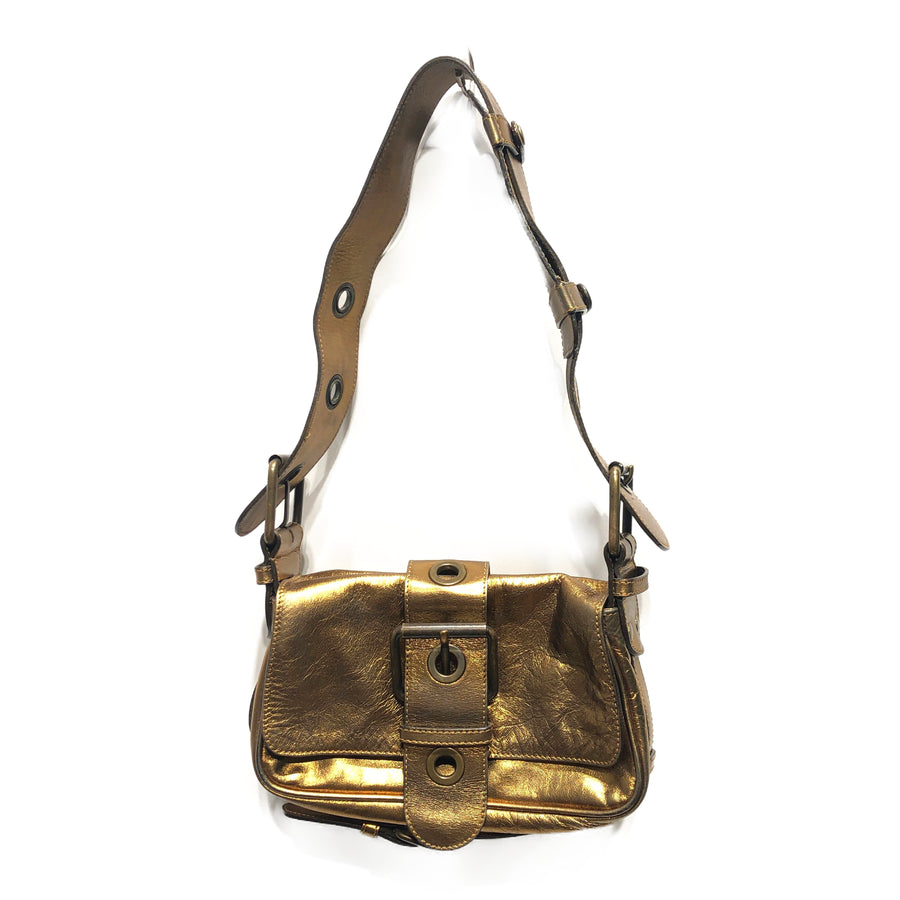 #Chloe/Hand Bag/GLD/Leather