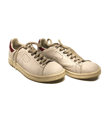 Adidas/RAF SIMONS/Low-Sneakers/5.5/WHT/Faux Leather/Plain