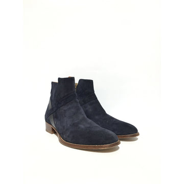 GRAND VOYAGE/Boots/NVY/Leather/Plain