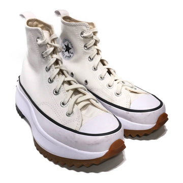 CONVERSE/RUN STAR HIKE /Hi-Sneakers/6.5/WHT/Cotton/Plain