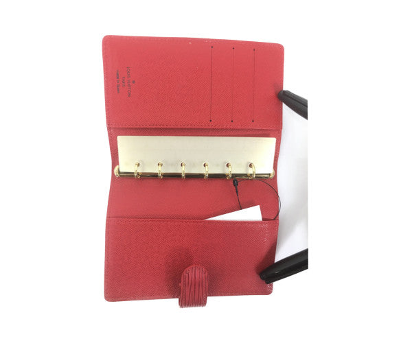 LOUIS VUITTON/Epi Ring Agenda/Book Cover/RED