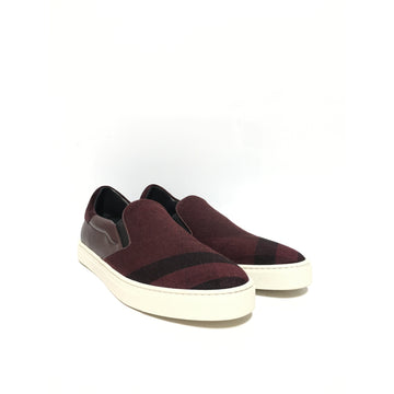 BURBERRY/EU44/Low-Sneakers/RED/Cotton/Plaid
