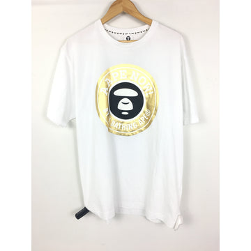 AAPE BY A BATHING APE/XXL/T-Shirt/WHT/Cotton/Graphic