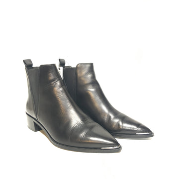 ACNE STUDIOS/37/Booties/BLK/Leather/Plain