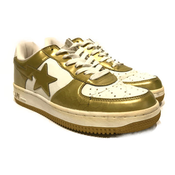 BAPE STA!//Low-Sneakers/10/GLD/Others/Plain