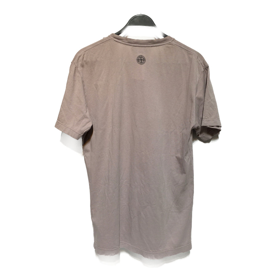 STONE ISLAND//T-Shirt/L/SLV/Cotton/Plain