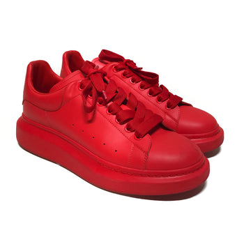 Alexander McQueen//Low-Sneakers/42/RED/Leather/Plain