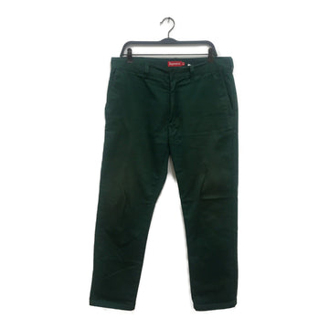 Supreme//Straight Pants/34/GRN/Cotton/Plain