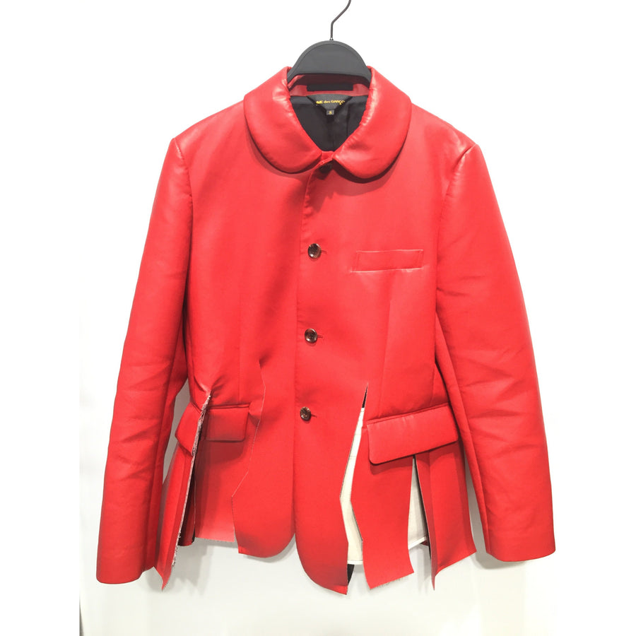 COMME des GARCONS/Leather Jacket/S/Leather/RED
