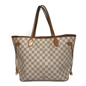 LOUIS VUITTON/NEVERFULL/Tote Bag//WHT/Leather/Plaid
