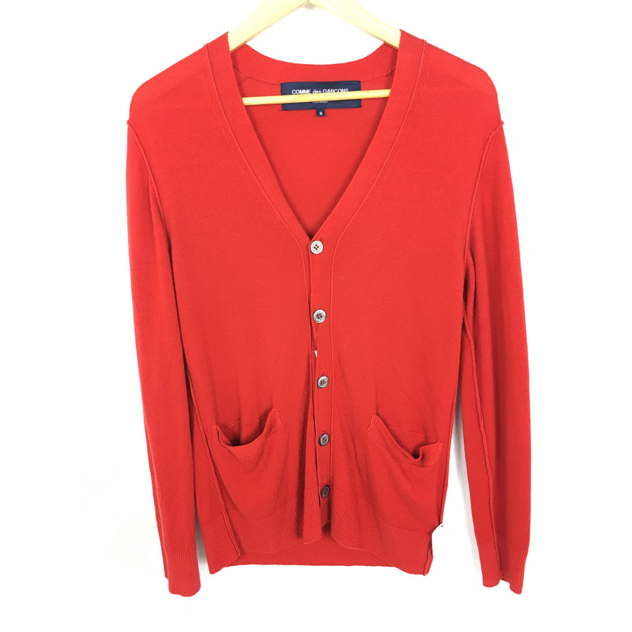 COMME des GARCONS HOMME/Cardigan/S/Cashmere/RED