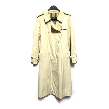 BURBERRY/LONG BURBERRY COAT/Tailored Jkt/LARGE/CML/Cotton/Plain