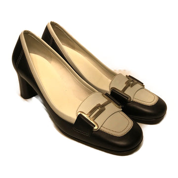 Salvatore Ferragamo//Heels/8/BLK/Leather/Plain