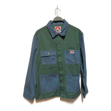 Supreme/BEN DAVIS/LS Shirt/LARGE/GRN/Cotton/Plain