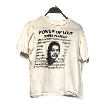 Vintage/LUTHER VANDROSS POWER OF LOVE/T-Shirt/S/WHT/Cotton/Graphic