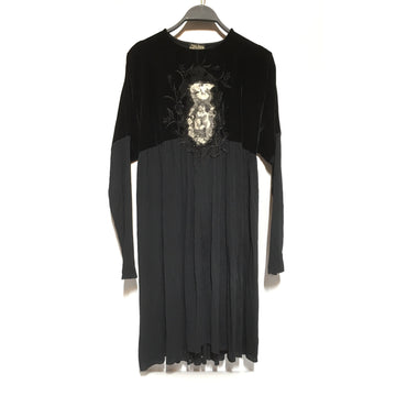 Jean Paul GAULTIER FEMME/F/Tunic Dress/BLK/Others/Graphic