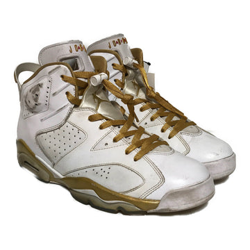 Jordan/JORDAN 6 GOLD/Low-Sneakers/10.5/WHT/Leather/Plain