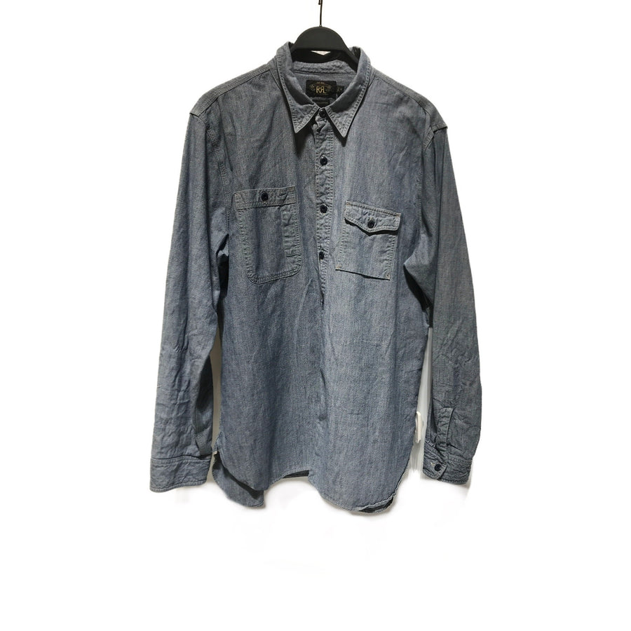 RRL/XL/LS Shirt/BLU/Cotton/Plain
