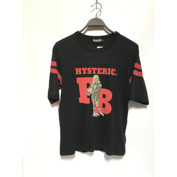 HYSTERIC GLAMOUR/M/T-Shirt/BLK/Cotton/Plain