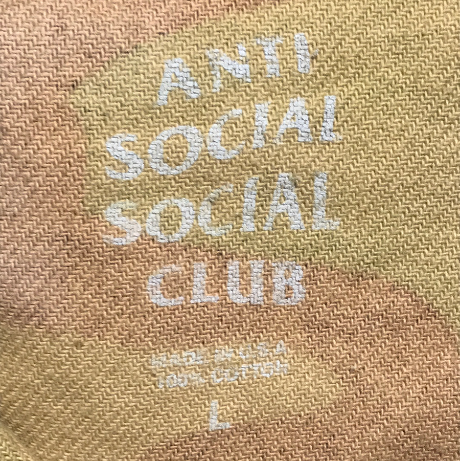 Anti Social Social Club//LS Shirt/L/GRN/Cotton/Camouflage