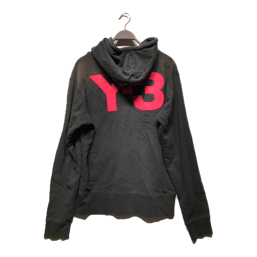 Y-3//Zip Up Hoodie/XL/BLK/Cotton/Plain