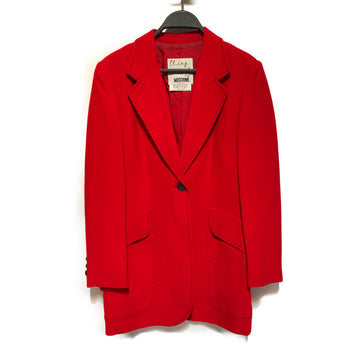 MOSCHINO/3 PIECE /Jacket/./RED/Cotton/Plain