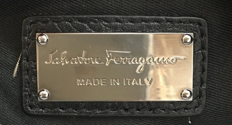 Salvatore Ferragamo/shoulder bag/leather/BLK