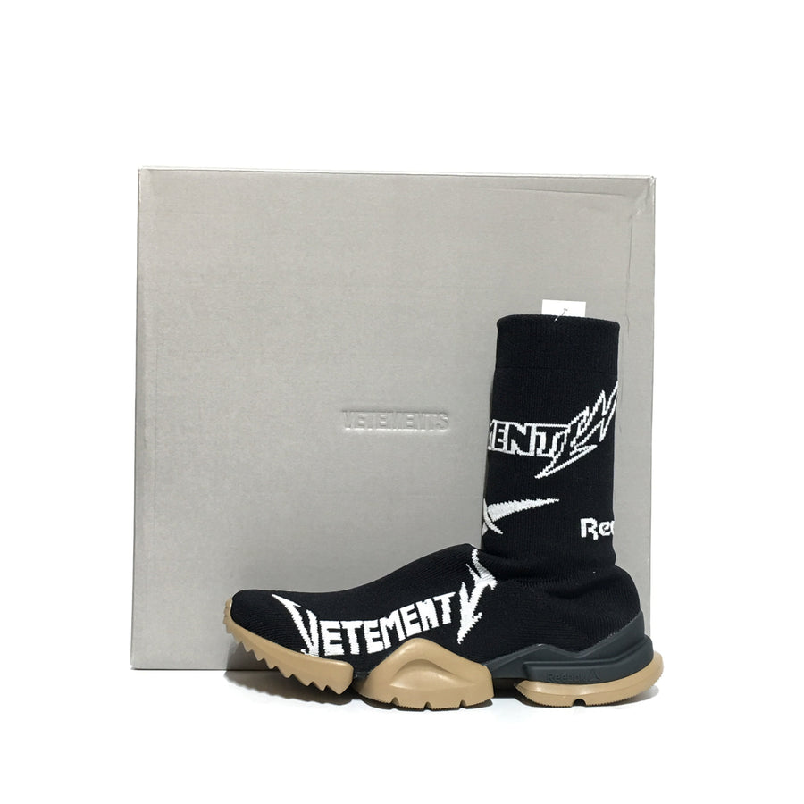 VETEMENTS/Sock Runner/EUR43/Hi-Sneakers/BLK/Cotton/Plain