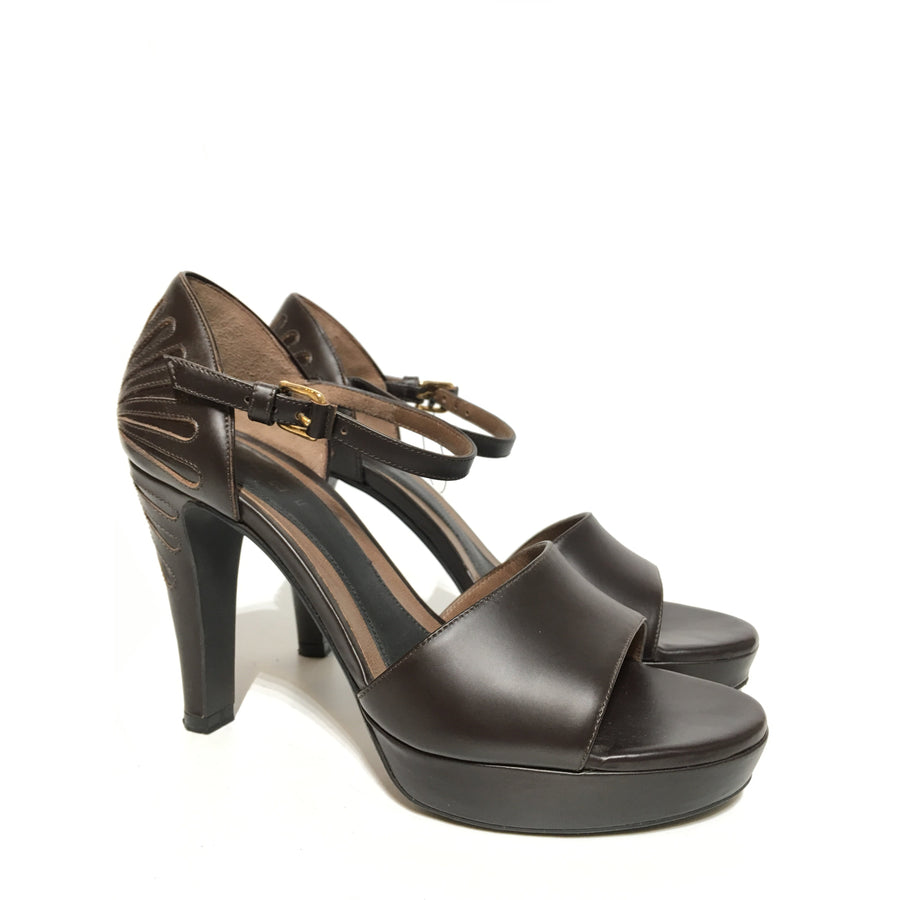 MARNI/Sandals/EUR38/BRW/Leather