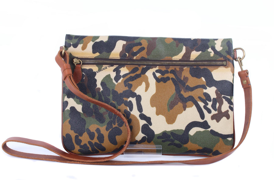 IL BISONTE/Cross Body Bag/Leather/GRN/Camouflage