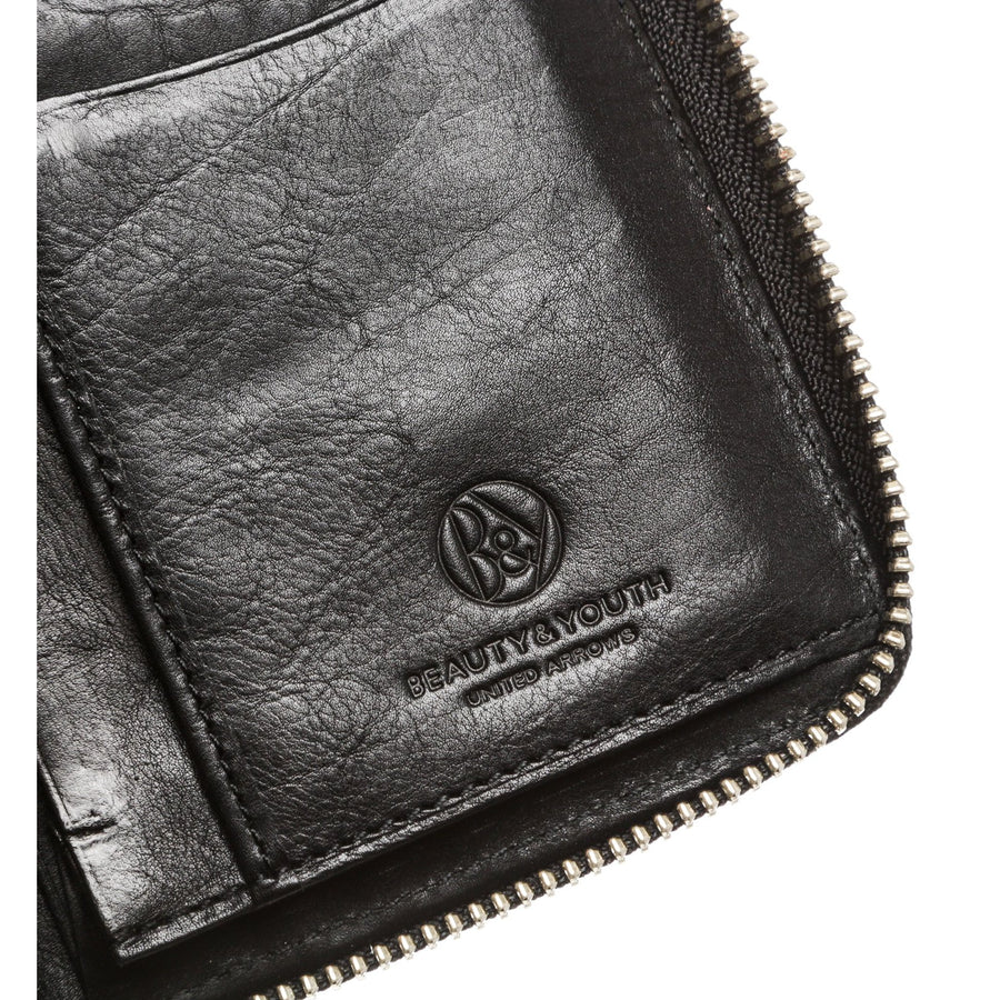BEAUTY&YOUTH UNITED ARROWS/Long Wallet/BLK/Leather