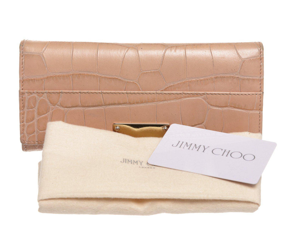 JIMMY CHOO/Long Wallet/PNK/Leather