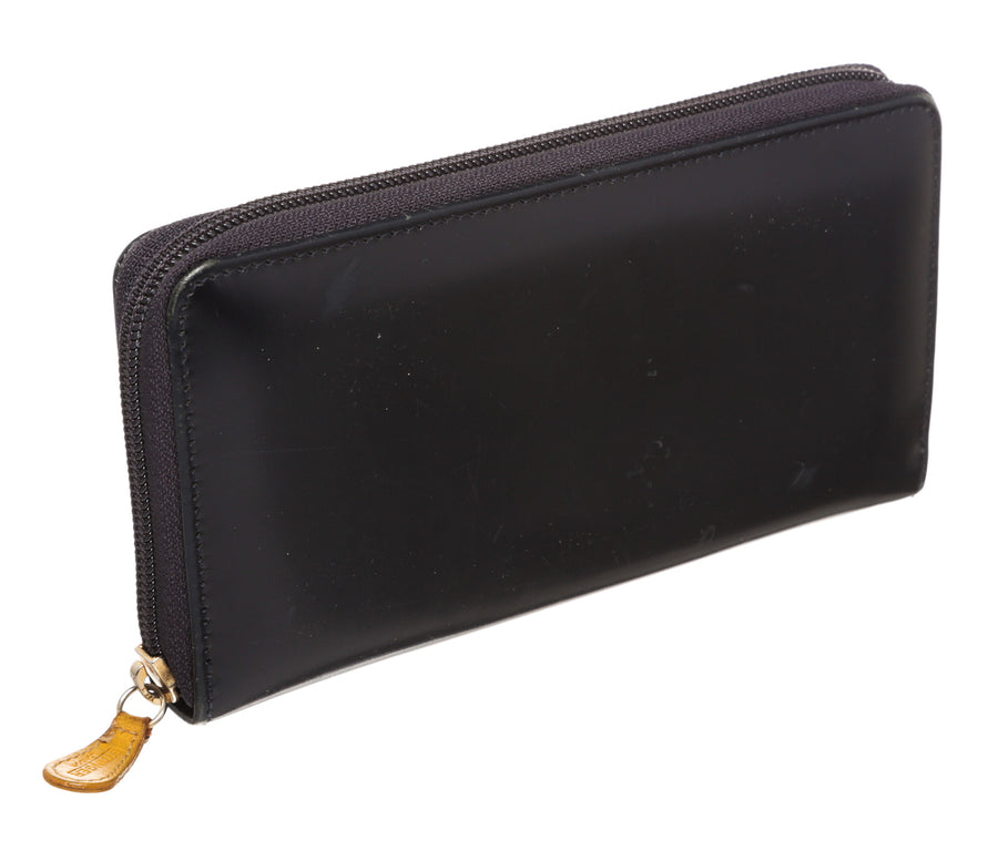 ETTINGER/Zip Wallet/BLK/Leather