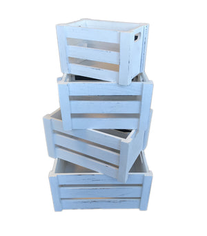 Wooden Storage Crates 4 in 1 Set (9300013082701 9300013082702 9300013082703 9300013082704)