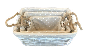 Iron Craft Basket Set of 3 - Square Shape     (690 00010876001 690 00010876002       690 00010876003