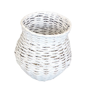 Willow Vase Pot Shape 21x32 - White